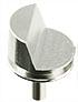 70 degree EBSD angled standard profile SEM pin stub Ø12.7 diameter standard pin, aluminium
