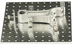 EM-Tec Versa-Plate H121 SEM sample holder 150x150mm with 121 M4 threaded holes and 5 brackets