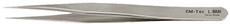 EM-Tec 1.SAN high precision super alloy tweezers, style 1, strong fine tips, fully non-magnetic