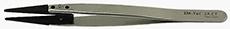 50-007020-EM-Tec 2A-CT ESD safe carbon fiber replaceable tip tweezers-flat wide tips