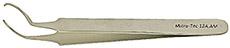 Micro-Tec 12A.AM AFM / SPM disc gripper tweezers, anti-magnetic stainless steel for Ø12mm AFM/SPM discs, 115mm long