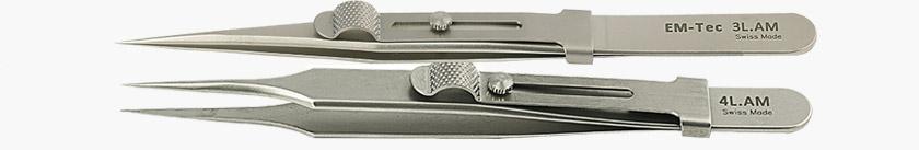 EM-Tec high precision anti-magnetic locking tweezers