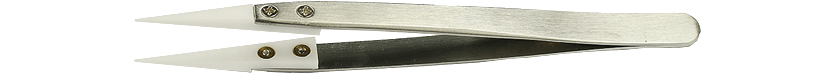 50-014510	Value-Tec 1.ZTA ceramic tips tweezers,  sharp tips, 132mm