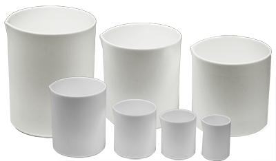 Micro-Tec PTFE beakers, safe alternative for glass beakers