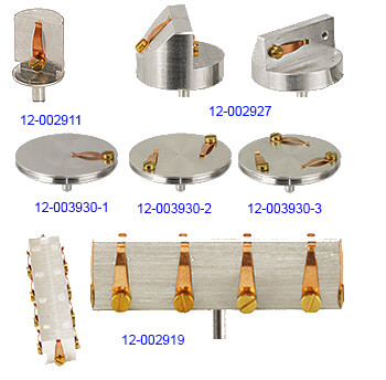 examples of EM-Tec S-Clip SEM sample holders