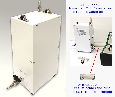 Tousimis SOTER condenser for waste alcohol from critical point dryers