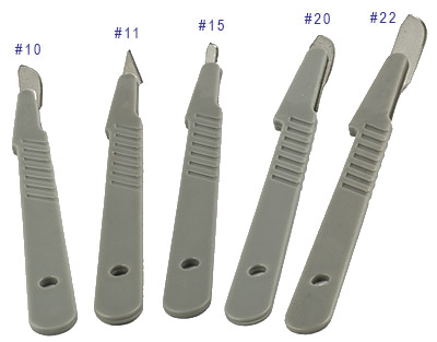 Micro Tec Disposable Scalpels With Plastic Handles