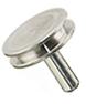 10-002012 SEM pin stub Ø12.7 diameter top, standard pin, aluminium