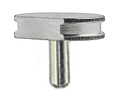10-002014 SEM pin stub Ø12.7 diameter top, with flat, standard pin, aluminium