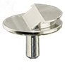 Low profile Zeiss pin stub Ø12.7 diameter with 36° for Zeiss SEM/ FIB systems, short pin, aluminium