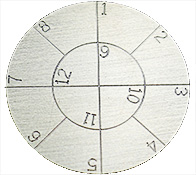 Engraved SEM pin stub Ø32 diameter with 12 numbered fields, aluminium