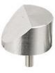 45 degree angled SEM pin stub Ø25.4 diameter standard pin, aluminium