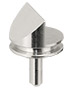 45/90 degree angled standard profile SEM pin stub Ø12.7 diameter standard pin, aluminium