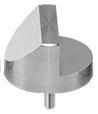 45/90 degree angled SEM pin stub Ø25.4 diameter standard pin, aluminium