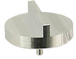 Double 90 degree angled SEM pin stub Ø32mm diameter, standard pin, aluminium