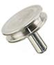Zeiss pin stub Ø12.7 diameter top, short pin, aluminium