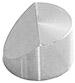 Hitachi  Ø15x10mm M4 angled SEM sample stub, 45 degree, aluminium