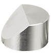Hitachi  Ø25x16mm M4 angled SEM sample stub, 45 degree, aluminium