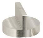 Hitachi  Ø25x16mm M4 angled SEM sample stub, double 90 degree, aluminium