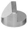 Hitachi  Ø25x16mm M4 angled SEM sample stub, 45 and 90 degree, aluminium