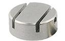 EM-Tec HS7 mini M4 cylinder stub dual slot vise clamp, 2x1mm, Ø15x6mm, M4