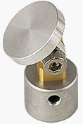 JS15 JEOL stub swivel mount,  Ø12.2x25mm, +/- 90 degree, aluminium/brass