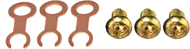 3x EM-Tec replacement TEM grid clips for EM-Tec t-EBSD holders plus 3 x M2x3mm brass screw