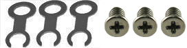 3x EM-Tec special Molybdenum TEM grid clip for EM-Tec t-EBSD holders plus 3 x M2x3mm stainless steel screw