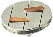 EM-Tec  LPS25 Low Profile S-Clip SEM sample holder, two standard clips  on a Ø25.4mm pin stub
