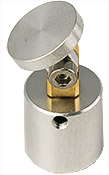 HS15 Hitachi stub swivel mount,  Ø15x30mm, +/- 90 degree, aluminium/brass