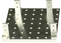EM-Tec Versa-Plate H49 SEM sample holder 82x82mm with 49 M4 threaded holes and 4 x S25 brackets, pin