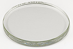 Replacement hardened glass lid for EM-Storr 110L large vacuum sample container, Ø130 x 10.2mm