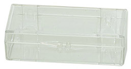 Micro-Tec C29 clear styrene plastic hinged storage boxes, 72x30x19mm