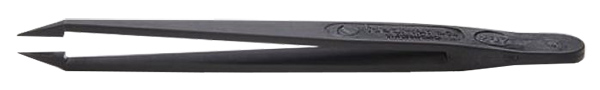 EM-Tec 707.CT ESD safe PVDF/carbon fibre reinforced tweezers, sharp tips