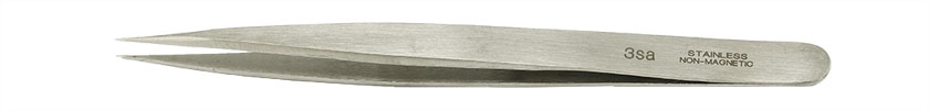 Value-Tec 3.NM general purpose tweezers, style 3, fine pointed tips, non-magnetic stainless steel
