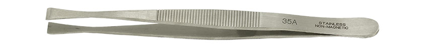 Value-Tec 35A.NM general purpose tweezers, style 35A, thin wide tips tips, non-magnetic stainless steel