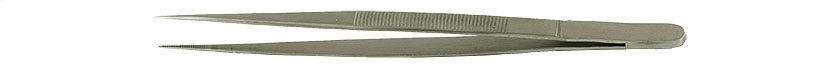 Value-Tec 610.MS industrial strong tweezers, style 610, straight serrated pointed tips, 150mm, magnetic stainless steel