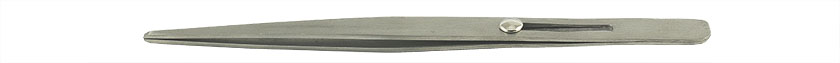 Value-Tec 667.MS industrial strong tweezers, style 667, locking, straight blunt tips, 165mm, magnetic stainless steel