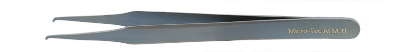 Micro-Tec AFM.TI light-weight, fully non-magnetic  AFM / SPM cantilever tweezers, titanium, 118mm
