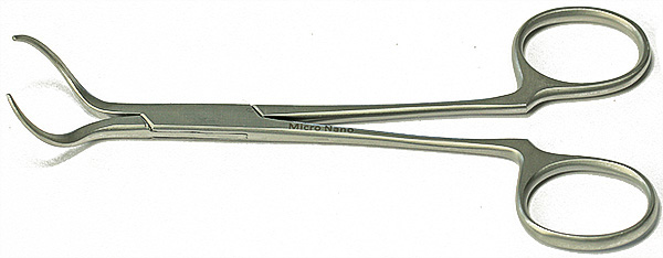 EM-Tec 25.AM scissor type long handle SEM pin stub gripper for Ø25.4mm pin stubs, anti-magnetic stainless steel