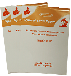 Micro-Tec MA86 optical lens paper 150 x 200 mm, booklets of 100 sheets