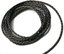 High purity carbon fiber thread grade CT7 for carbon evaporation, Ø1.3mm, 0.7g/m