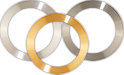 Ø82mm OD x  Ø60mm ID annular type high purity EM-Tec sputter targets for sputter coaters